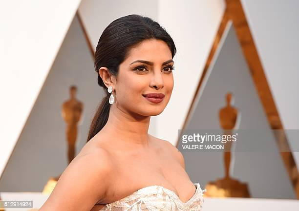 Priyanka Chopra arrives on the red carpet for the 88th Oscars on February 28 2016 in Hollywood California AFP PHOTO / VALERIE MACON / AFP / VALERIE...