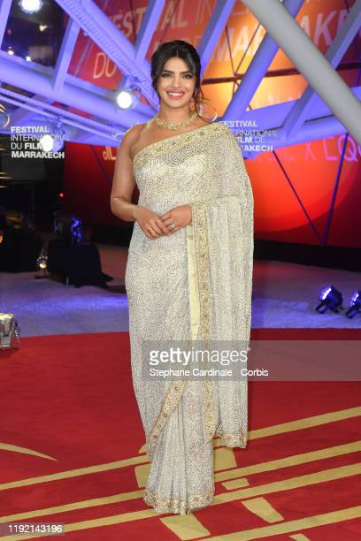 Priyanka Chopra arrives to attend the Tribute to Australian Cinema during the 18th Marrakech International Film Festival Day Seven on December 05...