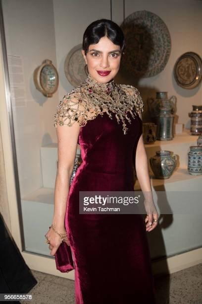 Priyanka Chopra attend the Heavenly Bodies Fashion The Catholic Imagination Costume Institute Gala at The Metropolitan Museum of Art on May 7 2018 in...