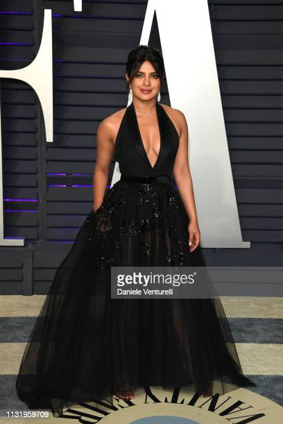 Priyanka Chopra attends 2019 Vanity Fair Oscar Party Hosted By Radhika Jones at Wallis Annenberg Center for the Performing Arts on February 24, 2019...