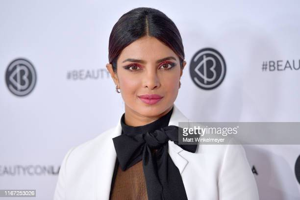 Priyanka Chopra attends Beautycon Los Angeles 2019 Pink Carpet at Los Angeles Convention Center on August 10, 2019 in Los Angeles, California.
