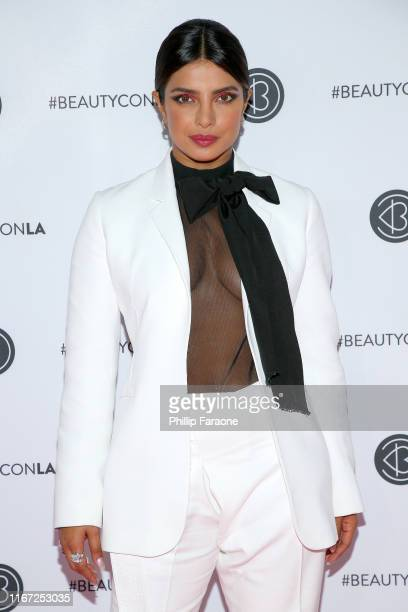 Priyanka Chopra attends Beautycon Los Angeles 2019 Pink Carpet at Los Angeles Convention Center on August 10 2019 in Los Angeles California