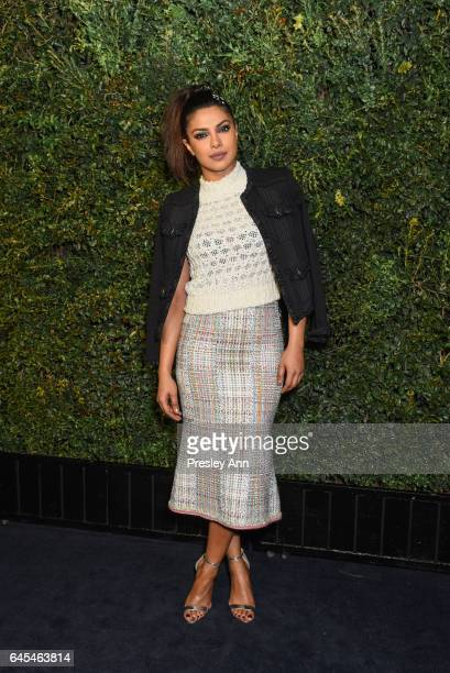 Priyanka Chopra attends Charles Finch and CHANEL PreOscar Awards Dinner at Madeo Restaurant on February 25 2017 in Los Angeles California