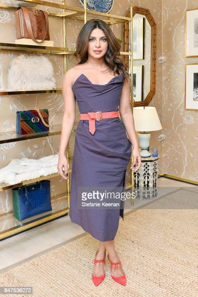 Priyanka Chopra attends Glamour x Tory Burch Women To Watch Lunch on September 15 2017 in Beverly Hills California
