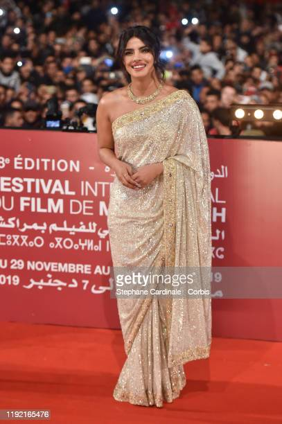 Priyanka Chopra attends her Tribute at Jemaa El Fnaa Place during the 18th Marrakech International Film Festival Day Seven on December 05 2019 in...