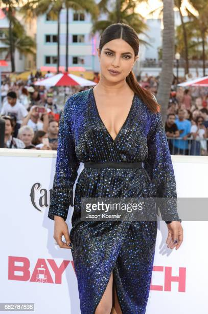 Priyanka Chopra attends Paramount Pictures' World Premiere of 'Baywatch'on May 13 2017 in Miami Florida