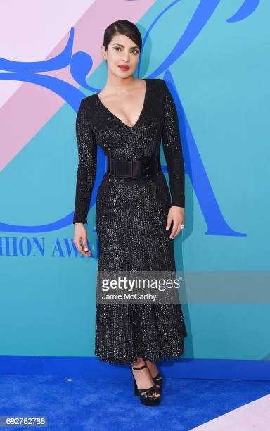 Priyanka Chopra attends the 2017 CFDA Fashion Awards at Hammerstein Ballroom on June 5 2017 in New York City