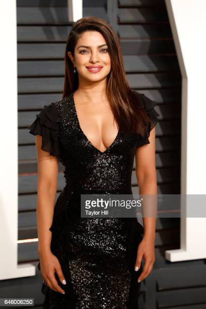 Priyanka Chopra attends the 2017 Vanity Fair Oscar Party at Wallis Annenberg Center for the Performing Arts on February 26 2017 in Beverly Hills...