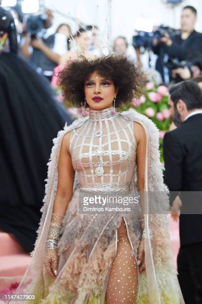 Priyanka Chopra attends The 2019 Met Gala Celebrating Camp: Notes on Fashion at Metropolitan Museum of Art on May 06, 2019 in New York City.