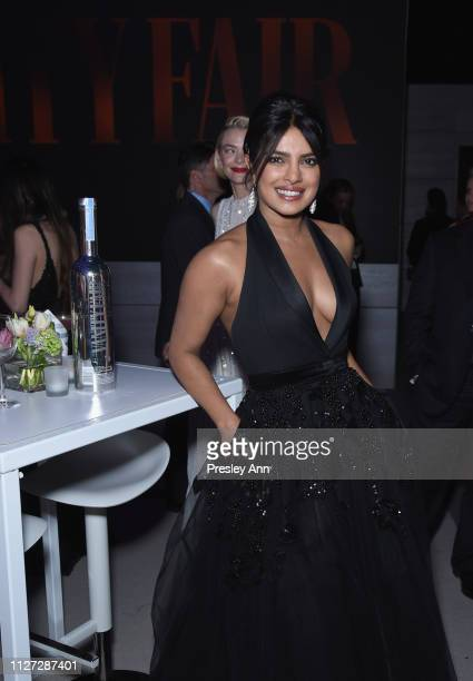 Priyanka Chopra attends the 2019 Vanity Fair Oscar party as they celebrate with Belvedere Vodka to honor Hollywood's biggest night at Wallis...