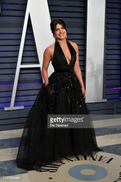 Priyanka Chopra attends the 2019 Vanity Fair Oscar Party hosted by Radhika Jones at Wallis Annenberg Center for the Performing Arts on February 24...