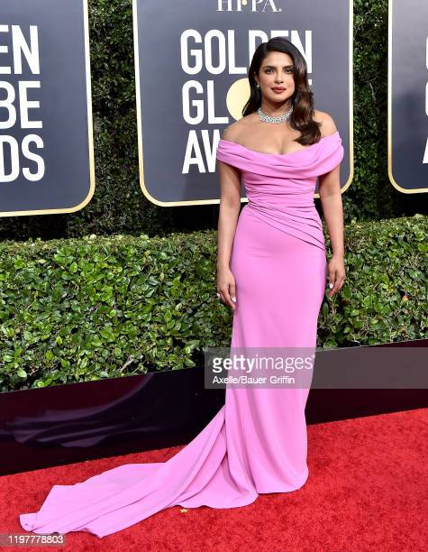 Priyanka Chopra attends the 77th Annual Golden Globe Awards at The Beverly Hilton Hotel on January 05, 2020 in Beverly Hills, California.