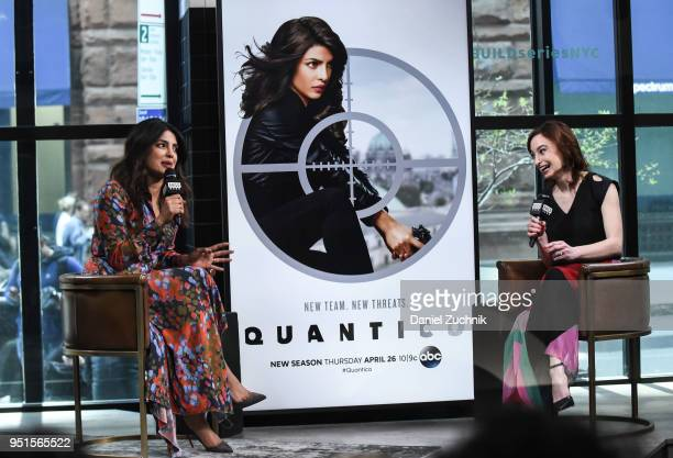 Priyanka Chopra attends the Build Series to discuss her ABC show 'Quantico' at Build Studio on April 26 2018 in New York City