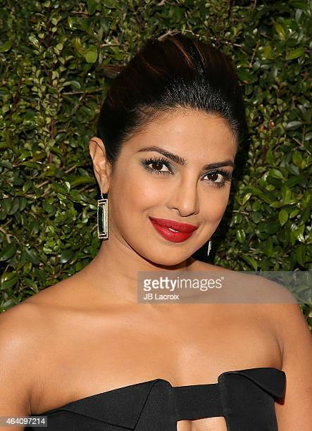 Priyanka Chopra attends the Chanel And Charles Finch PreOscar Dinner at Madeo Restaurant on February 21 2015 in West Hollywood California