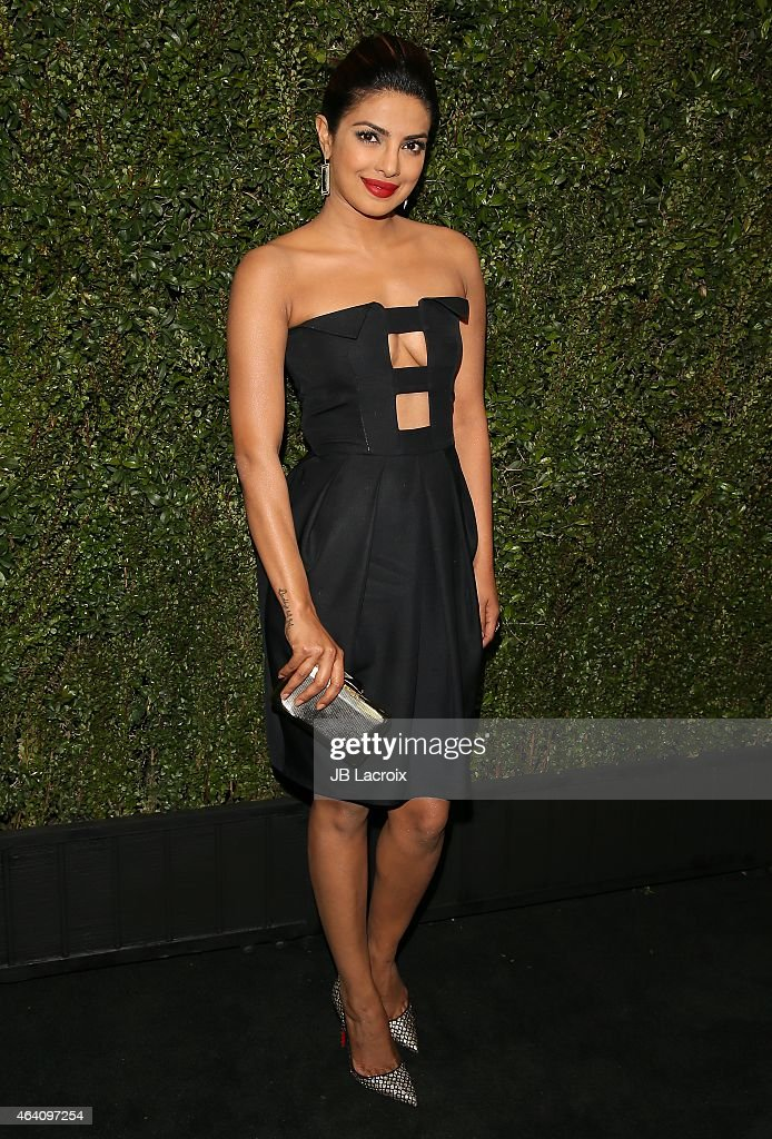 Priyanka Chopra attends the Chanel And Charles Finch Pre-Oscar Dinner at Madeo Restaurant on February 21, 2015 in West Hollywood, California.