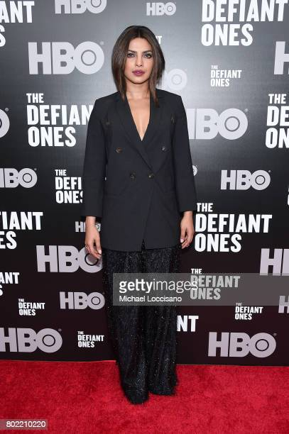 Priyanka Chopra attends The Defiant Ones premiere at Time Warner Center on June 27 2017 in New York City