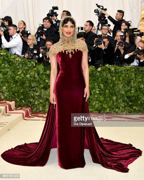 Priyanka Chopra attends the Heavenly Bodies Fashion The Catholic Imagination Costume Institute Gala at The Metropolitan Museum of Art on May 7 2018...