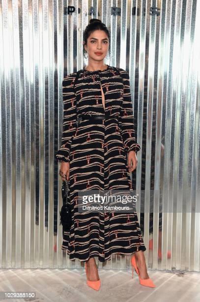 Priyanka Chopra attends the Longchamp Spring 2019 runway show during New York Fashion Week at World Trade Center on September 8 2018 in New York New...