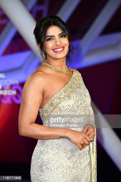 Priyanka Chopra attends the Mad Max screening during the 18th Marrakech International Film Festival Day Seven on December 05 2019 in Marrakech Morocco