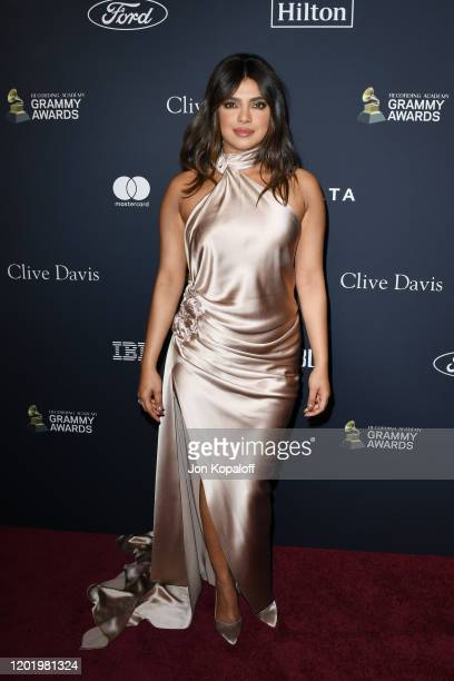 """Priyanka Chopra attends the Pre-GRAMMY Gala and GRAMMY Salute to Industry Icons Honoring Sean """"Diddy"""" Combs at The Beverly Hilton Hotel on January..."""