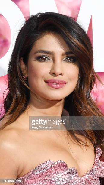 Priyanka Chopra attends the premiere of Isn't It Romantic at The Theatre at Ace Hotel on February 11, 2019 in Los Angeles, California.