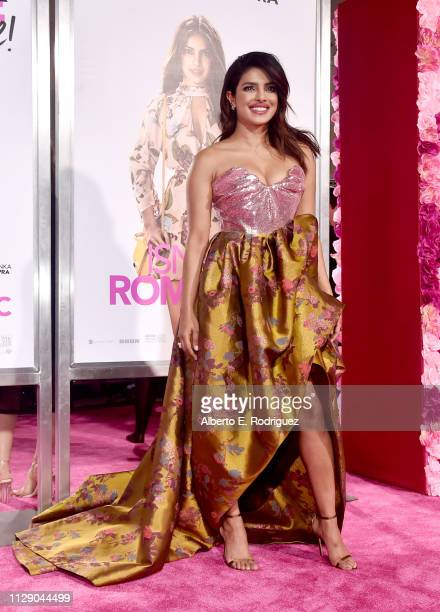 "Priyanka Chopra attends the premiere of Warner Bros. Pictures' ""Isn't It Romantic"" at The Theatre at Ace Hotel on February 11, 2019 in Los Angeles,..."