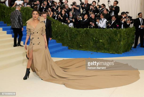 Priyanka Chopra attends the 'Rei Kawakubo/Comme des Garcons Art Of The InBetween' Costume Institute Gala at Metropolitan Museum of Art on May 1 2017...