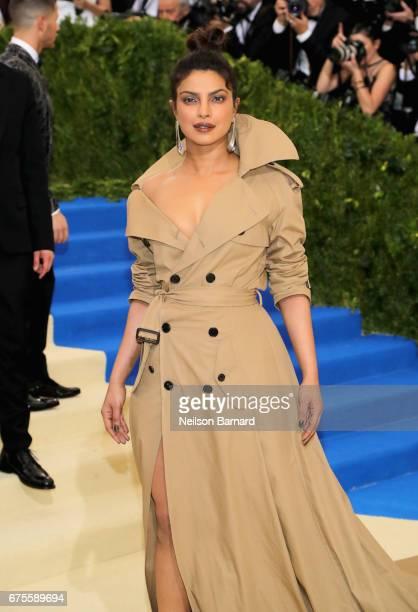 Priyanka Chopra attends the Rei Kawakubo/Comme des Garcons Art Of The InBetween Costume Institute Gala at Metropolitan Museum of Art on May 1 2017 in...