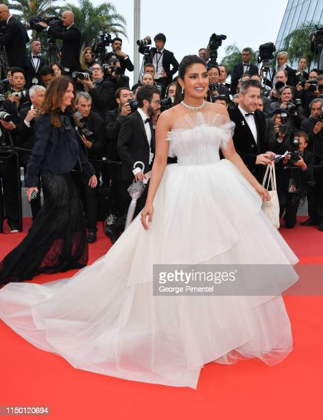 Priyanka Chopra attends the screening of Les Plus Belles Annees D'Une Vie during the 72nd annual Cannes Film Festival on May 18 2019 in Cannes France