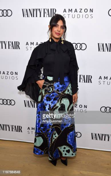 Priyanka Chopra attends The Vanity Fair x Amazon Studios 2020 Awards Season Celebration at San Vicente Bungalows on January 04 2020 in West Hollywood...