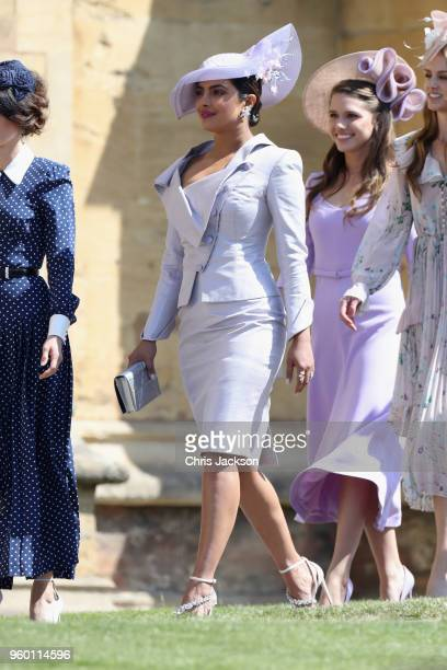 Priyanka Chopra attends the wedding of Prince Harry to Ms Meghan Markle at St George's Chapel Windsor Castle on May 19 2018 in Windsor England Prince...
