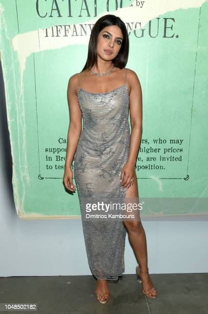 Priyanka Chopra attends Tiffany Co Celebrates 2018 Tiffany Blue Book Collection THE FOUR SEASONS OF TIFFANY at Studio 525 on October 9 2018 in New...