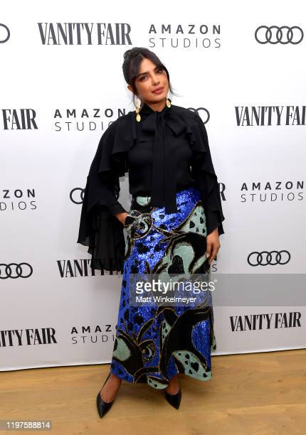 Priyanka Chopra attends Vanity Fair Amazon Studios and Audi Celebrate The 2020 Awards Season at San Vicente Bungalows on January 04 2020 in West...