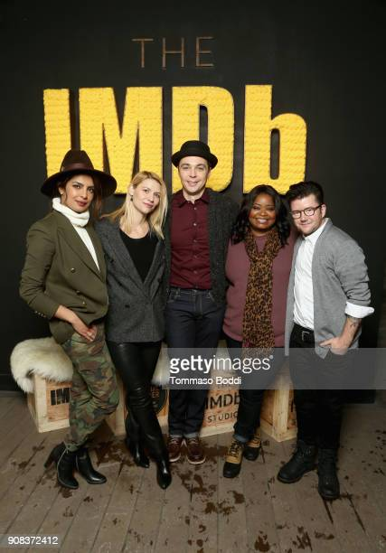 Priyanka Chopra Claire Danes Jim Parsons Octavia Spencer and Silas Howard of 'A Kid Like Jake' attend The IMDb Studio and The IMDb Show on Location...