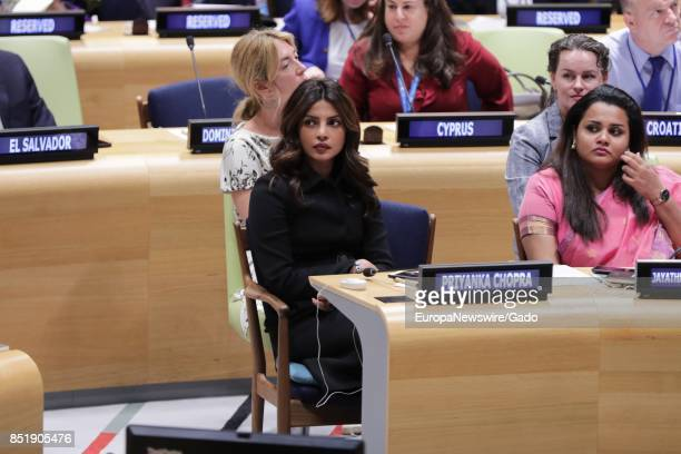 Priyanka Chopra during a highlevel event on Financing the Future Education 2030 at the UN Headquarters in New York City New York September 20 2017