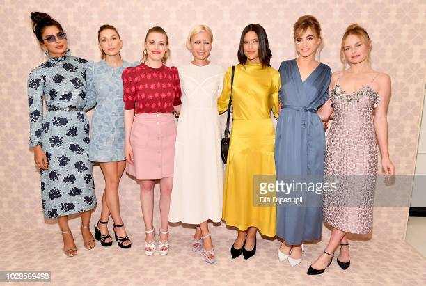 Priyanka Chopra Elizabeth Olsen Gillian Jacobs Nicola Glass Julia Jones Suki Waterhouse and Kate Bosworth attend the Kate Spade New York Fashion Show...