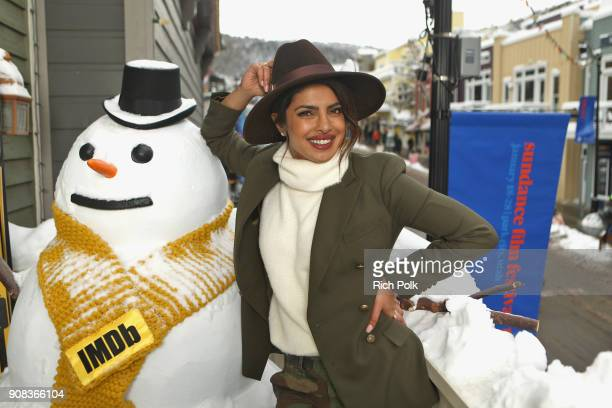Priyanka Chopra from 'A Kid Like Jake' attend The IMDb Studio and The IMDb Show on Location at The Sundance Film Festival on January 21 2018 in Park...