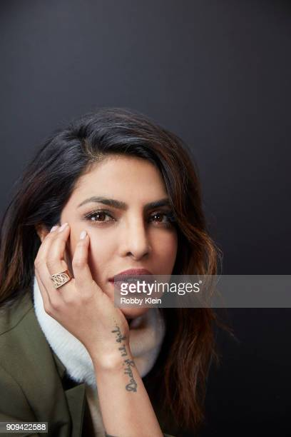 Priyanka Chopra from the film 'A Kid Like Jake' poses for a portrait at the YouTube x Getty Images Portrait Studio at 2018 Sundance Film Festival on...