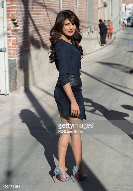 Priyanka Chopra is seen at 'Jimmy Kimmel Live' on September 28 2015 in Los Angeles California