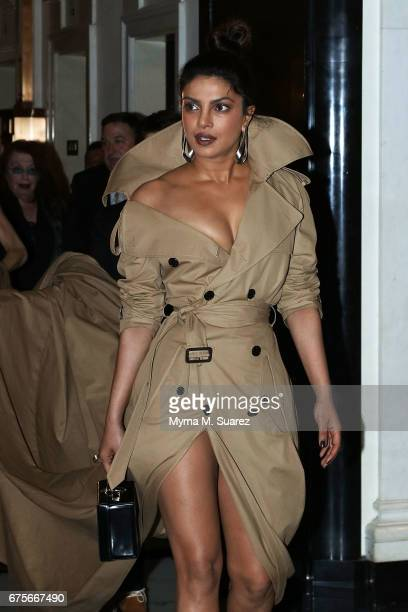 Priyanka Chopra is seen departing The Carlyle hotel on May 1 2017 in New York City