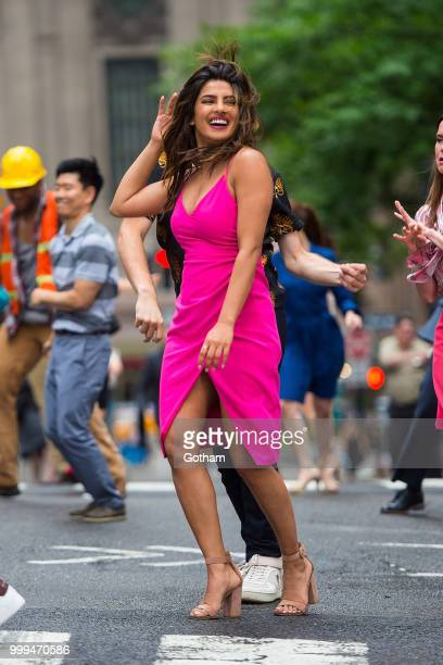 Priyanka Chopra is seen filming a scene for 'Isn't It Romantic' in Midtown on July 15 2018 in New York City