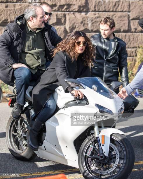 Priyanka Chopra is seen filming 'Quantico' in Harlem on November 21 2017 in New York New York
