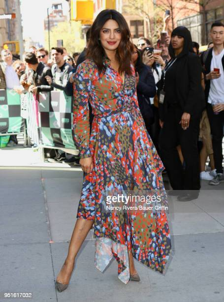 Priyanka Chopra is seen on April 26 2018 in New York City