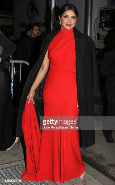 Priyanka Chopra is seen on December 03, 2019 in New York City.