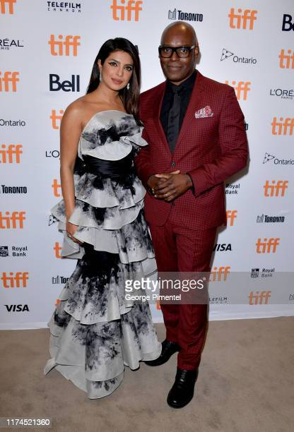 Priyanka Chopra Jonas and Cameron Bailey attend The Sky Is Pink premiere during the 2019 Toronto International Film Festival at Roy Thomson Hall on...