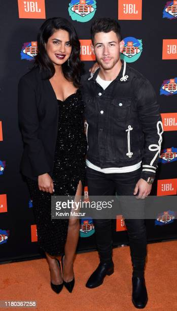 Priyanka Chopra Jonas and surprise guest Nick Jonas arrive at the red carpet at CLUB JBL one of the many events during the 3rd annual JBL Fest an...