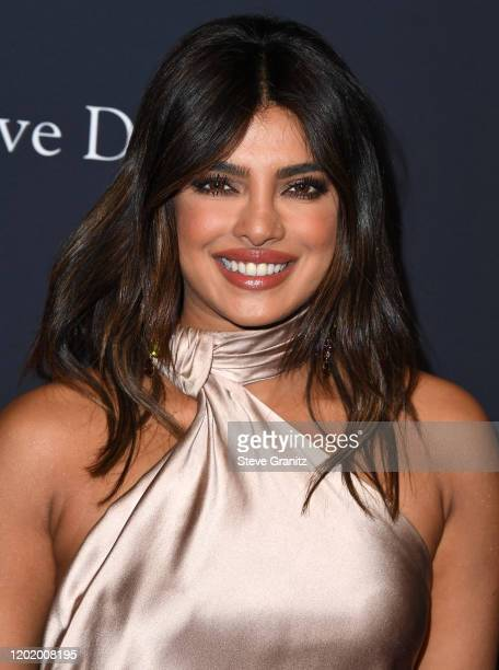 """Priyanka Chopra Jonas arrives at the Pre-GRAMMY Gala and GRAMMY Salute to Industry Icons Honoring Sean """"Diddy"""" Combs at The Beverly Hilton Hotel on..."""