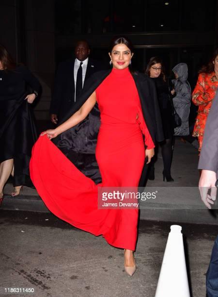 Priyanka Chopra Jonas arrives to the 15th Annual UNICEF Snowflake Ball at Cipriani Wall Street on December 3 2019 in New York City