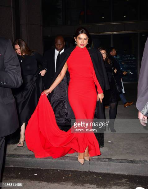 Priyanka Chopra Jonas arrives to the 15th Annual UNICEF Snowflake Ball at Cipriani Wall Street on December 3, 2019 in New York City.