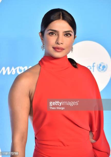 Priyanka Chopra Jonas attends the 15th Annual UNICEF Snowflake Ball at Cipriani Wall Street on December 03 2019 in New York City